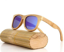 handcrafted bamboo sunglasses purple lens