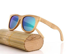 handcrafted bamboo sunglasses green lens