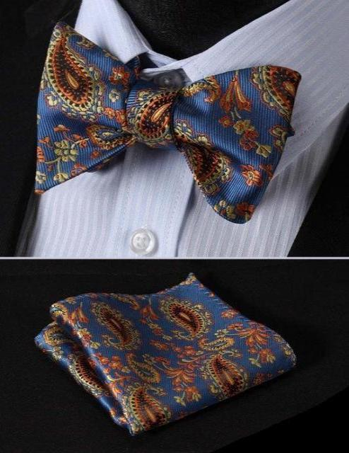 Paisley Bow Tie & Pocket Square Combo
