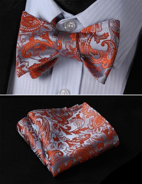 Paisley Bow Tie & Pocket Square