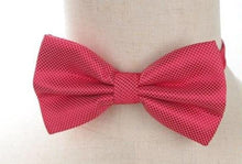 Pre-tied Red Cross-hatch Bow Tie