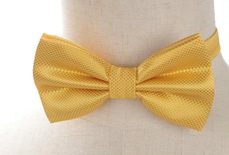 Pre-tied Yellow Cross-hatch Bow Tie