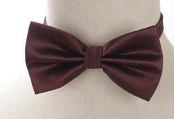 Pre-tied Brown Cross-hatch Bow Tie