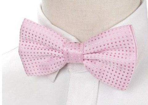 Pre-tied Pink Polka Dot Bow Tie
