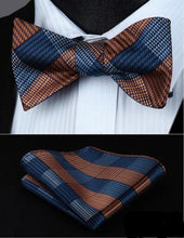 Plaid Bow Tie & Pocket Square Combo