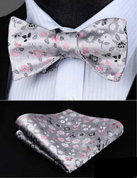 Floral Bow Tie & Pocket Square Combo