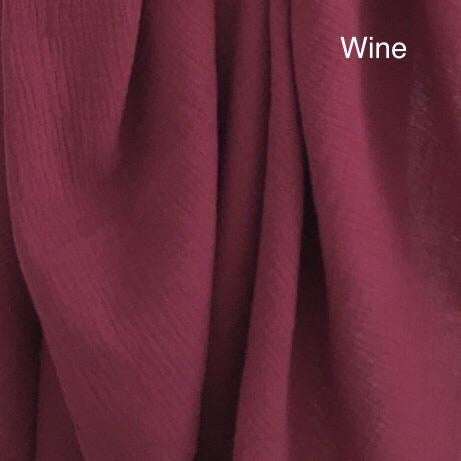 Wine Muslin - Mikayla Ann Boutique