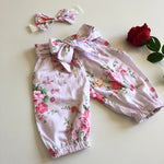 Floral Harem Pants with headband/clip set - Macy