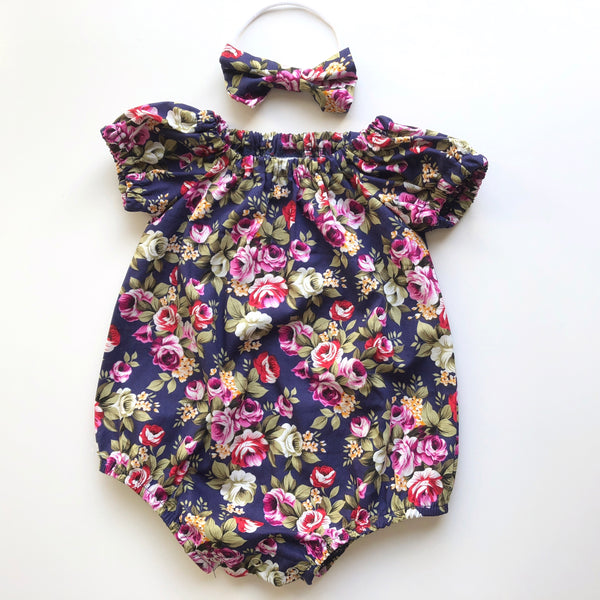 Short Sleeve Floral Playsuit Set- Zoey