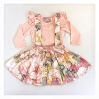 3-in-1 Pinafore Floral Dress Set - Candy