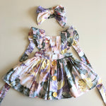3-in-1 Pinafore Floral Dress Set - Venice - Mikayla Ann Boutique