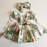 3-in-1 Pinafore Floral Dress Set- Geneva