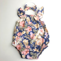 Short Sleeve Floral Playsuit Set - Georgia