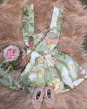 3-in-1 Pinafore Floral Dress Set- Geneva - Mikayla Ann Boutique