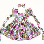 3-in-1 Pinafore Floral Dress Set - Anastacia