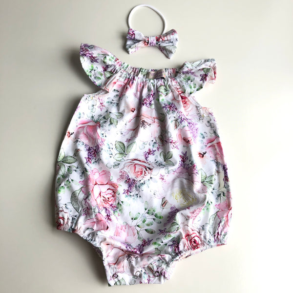 Short Sleeve Floral Playsuit Set- Tilly