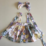 3-in-1 Pinafore Floral Dress Set - Venice