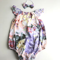 Short Sleeve Floral Playsuit Set- Venice