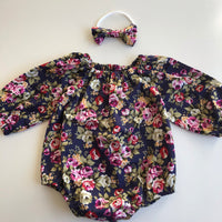 Long Sleeve Floral Playsuit Set- Zoey