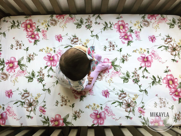 Classic Margaret Fitted Cot Sheet - Mikayla Ann Boutique