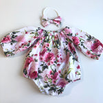 Long Sleeve / Short Sleeve Playsuit Set- Heidi Pink ( Heidi White out of stock)