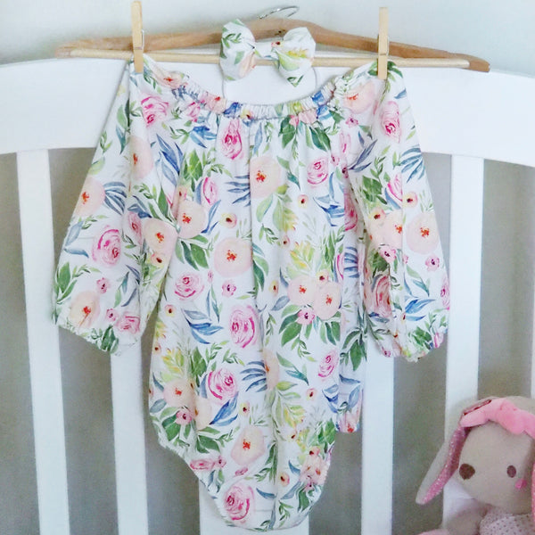 Long Sleeve / Short Sleeve Playsuit Set- Esther