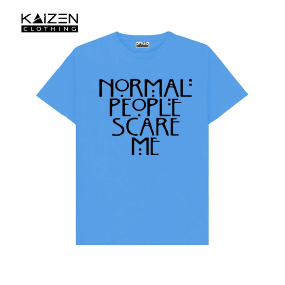 Nornal People Scare Me Printed T-shirt