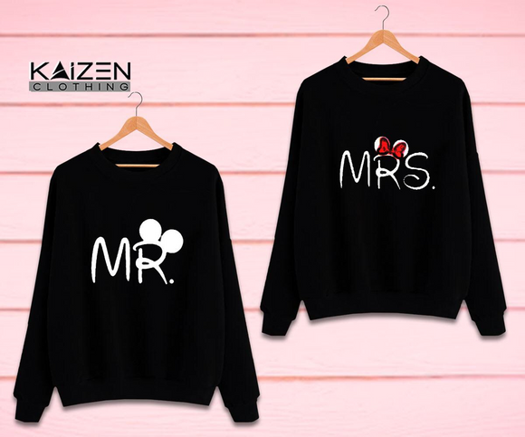 Mr Mrs Couple Sweatshirt