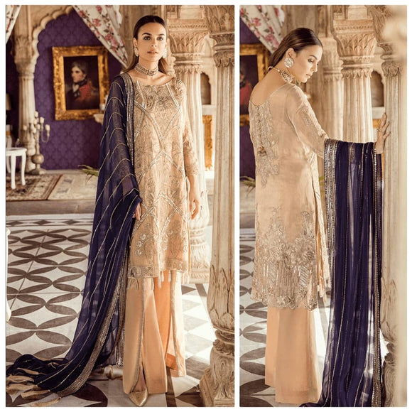 Embroidered - Heritage Collection Beige Party Wear