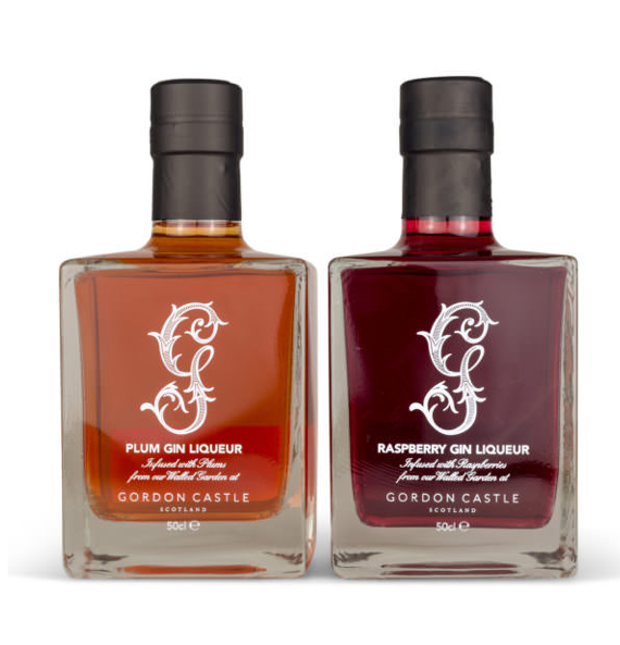 Gordon Castle Scotland Raspberry and Plum Gin Duo Set