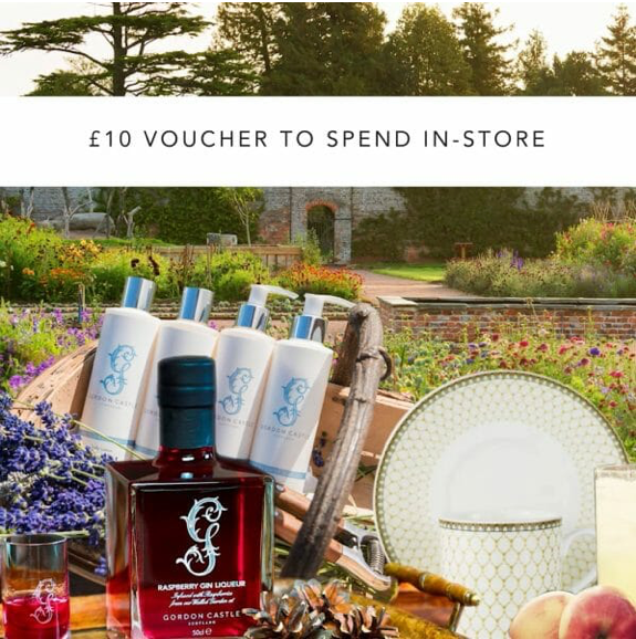 Gordon Castle Scotland £10 In-store Voucher