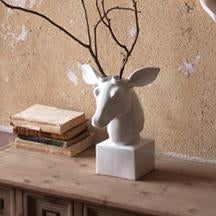 Table Top Ceramic Deer Head