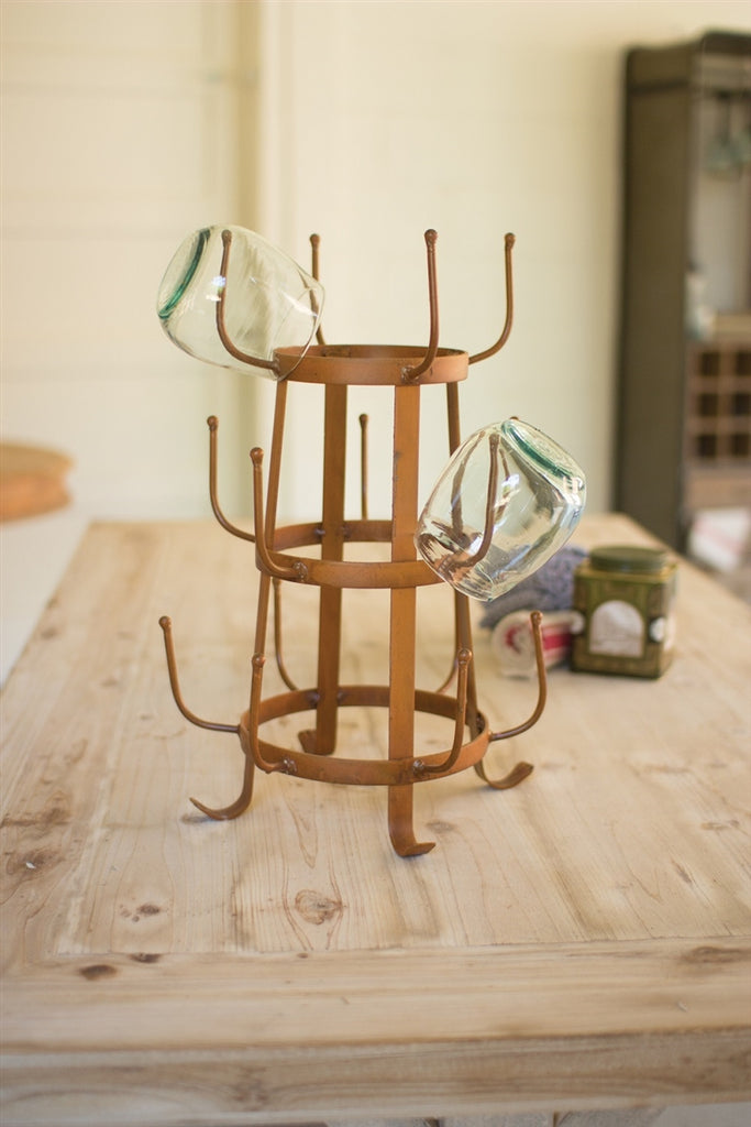 Rustic Glass Drying Rack