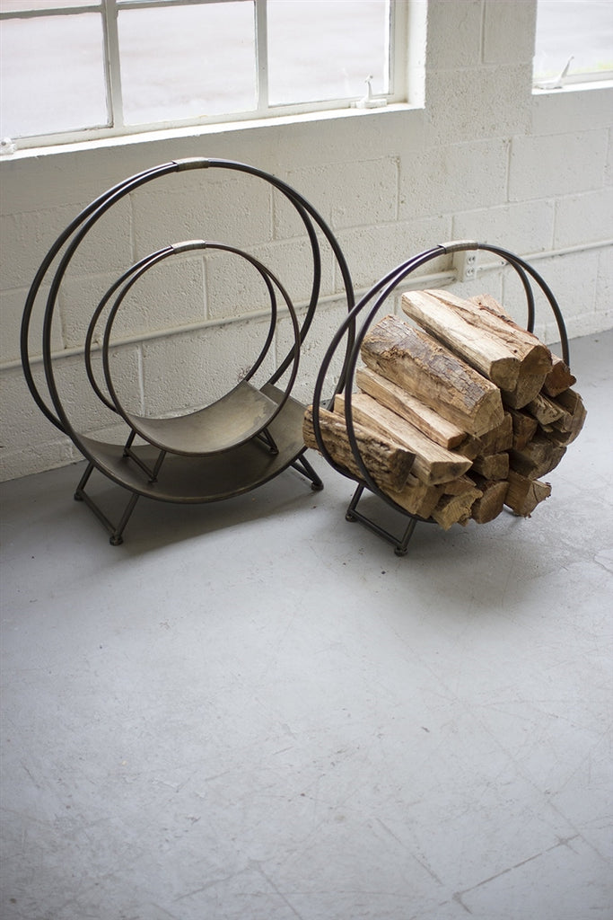 Metal Firewood Racks - Set of 3