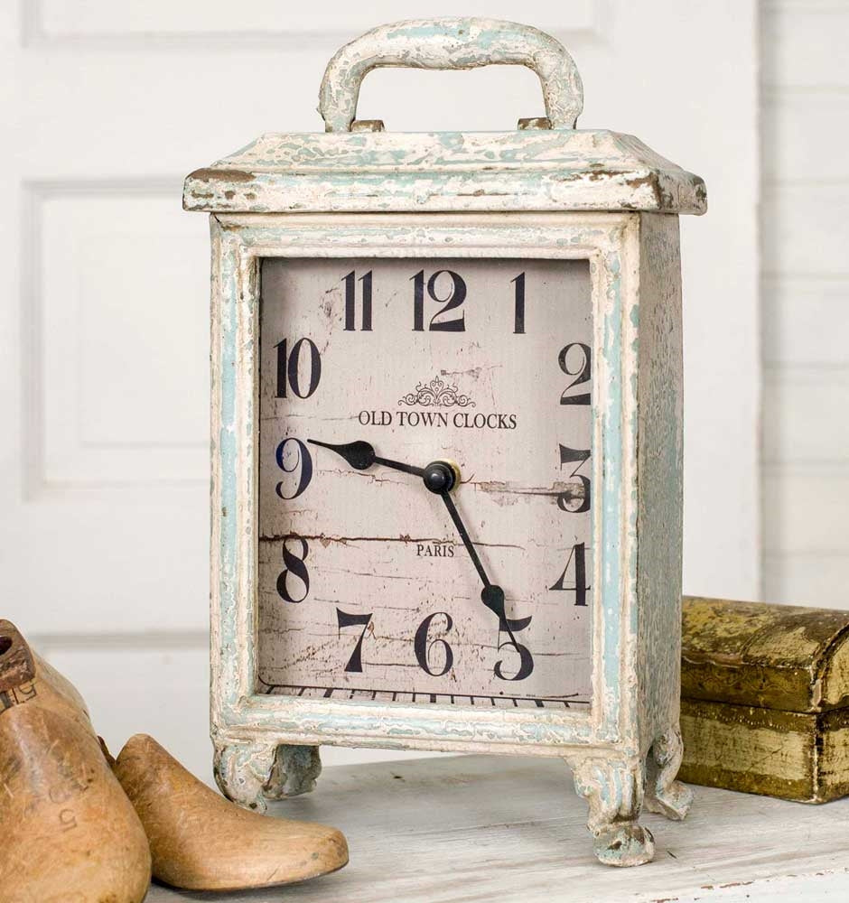 Distressed Carriage Clock