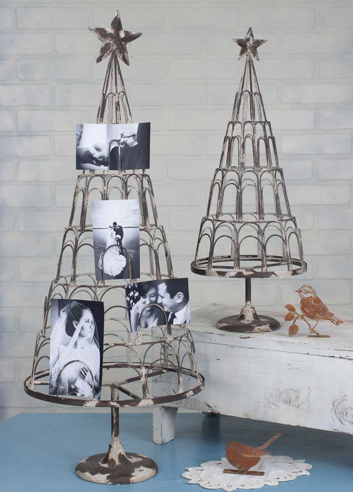 Rustic Card And Photo Tree Holders - Set of 2