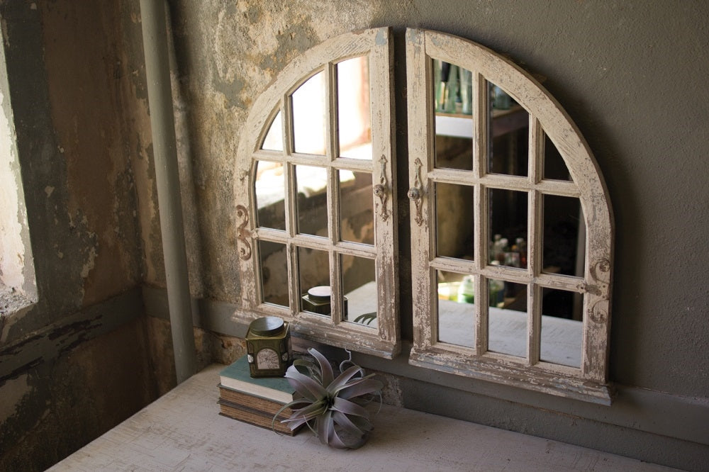 Arched Window Mirrors - Set of 2