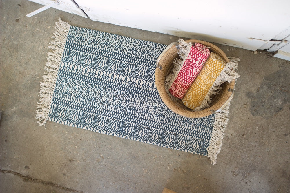 Printed Cotton Rugs - Set of 3