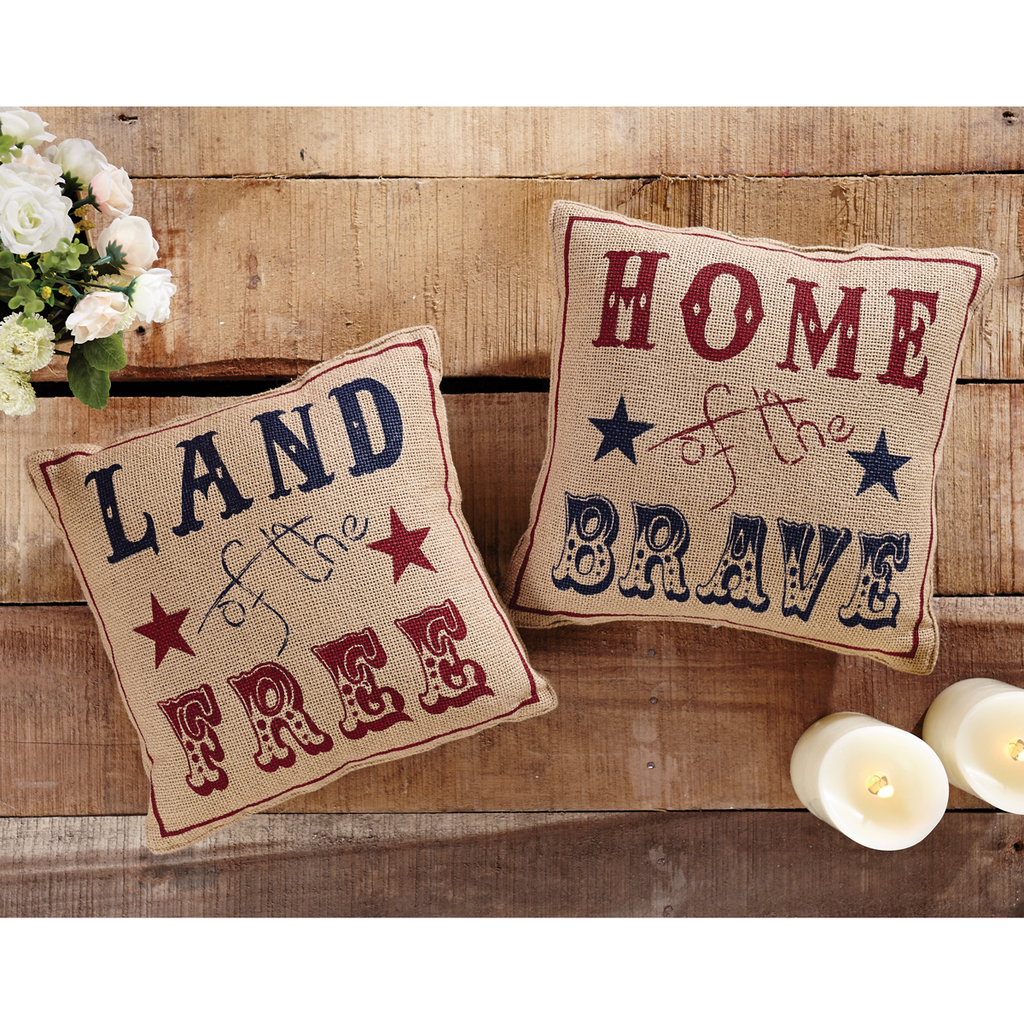 Land Of The Free Home Of The Brave Pillows - Set of 2