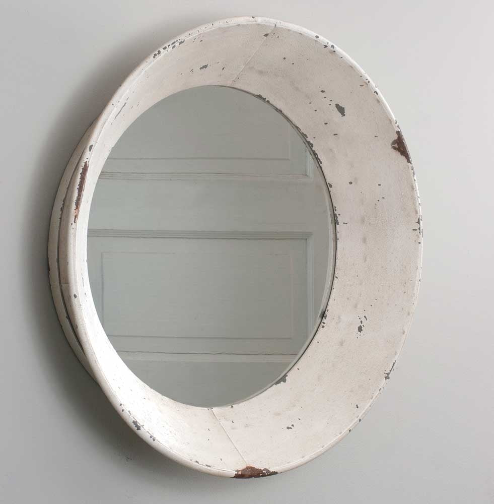 Distressed Dutch Round Wall Mirror