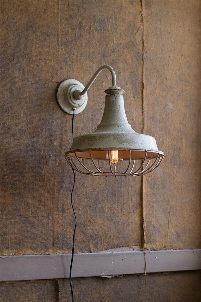 Wall Sconce Lamp With Cage
