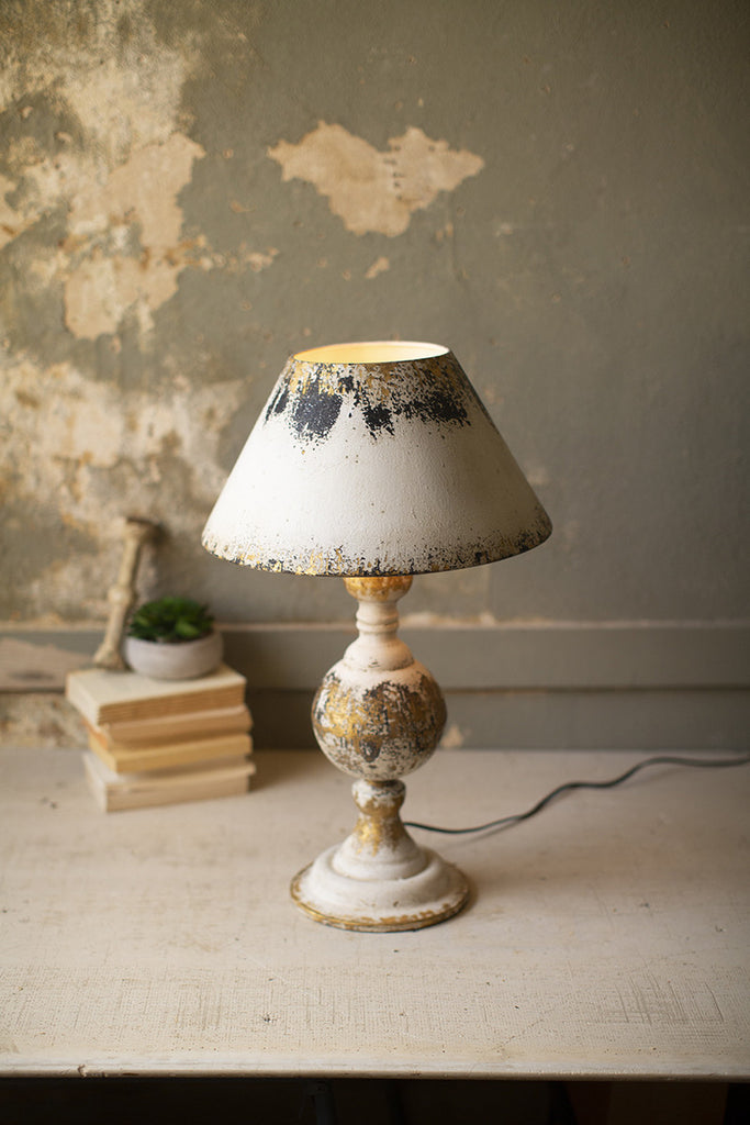 table lamp with metal base & metal shade
