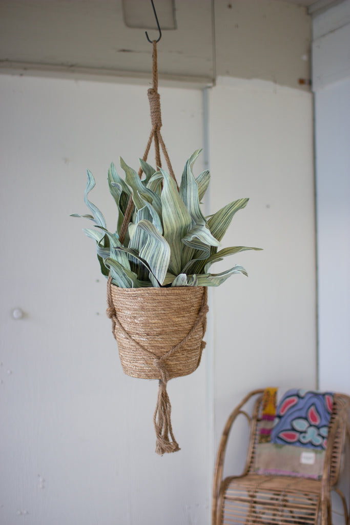 Natural Basket With Jute Hanger