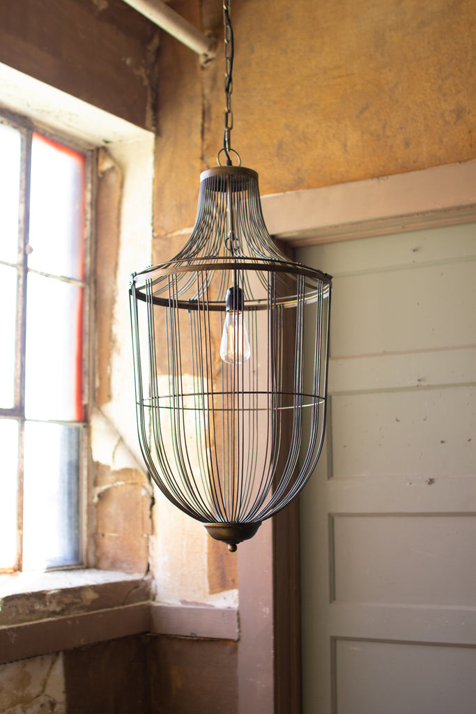 Large Cage Pendant Light