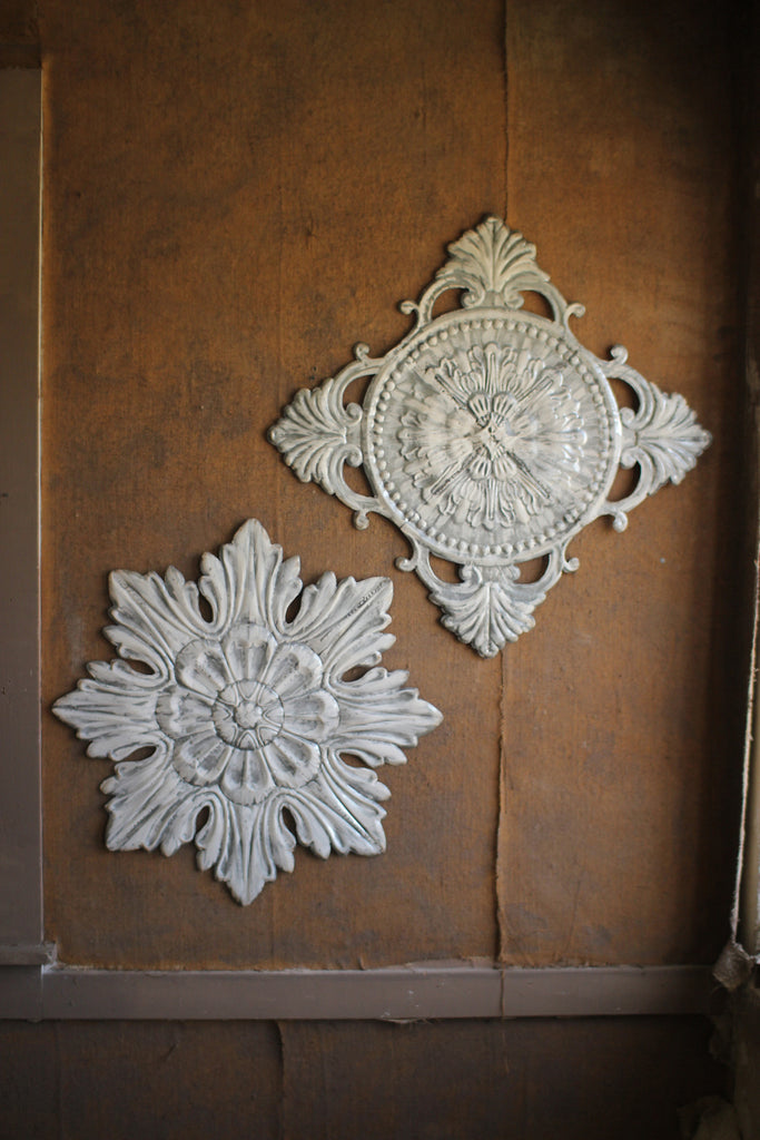 Pressed Tin Wall Hangings - Set of 2