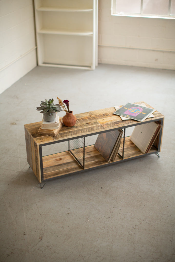 Recycled Wood & Metal TV Stand