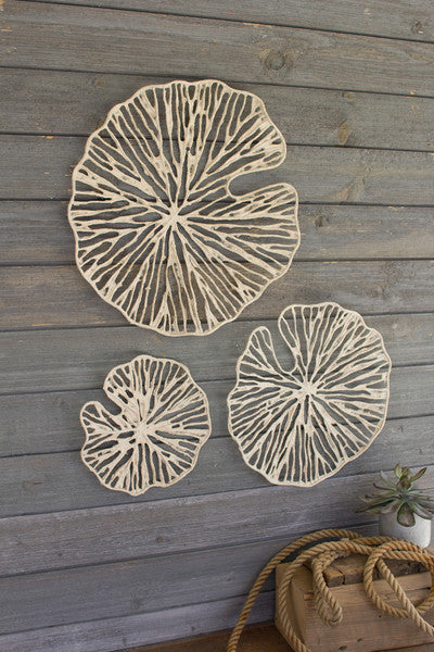 Hand Made Paper Discs Wall Art - Set of 3