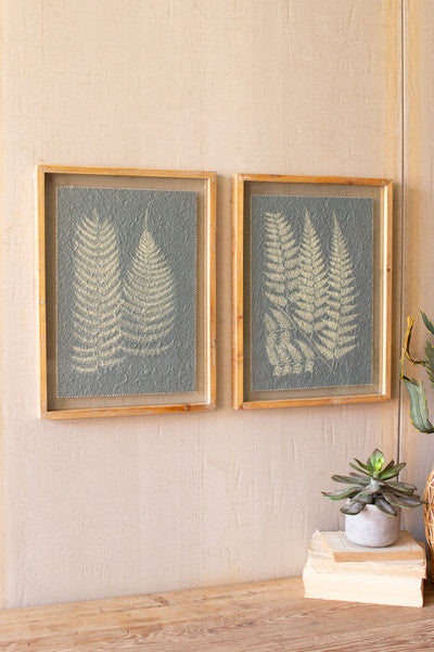 Fern Prints Under Glass - Set of 2