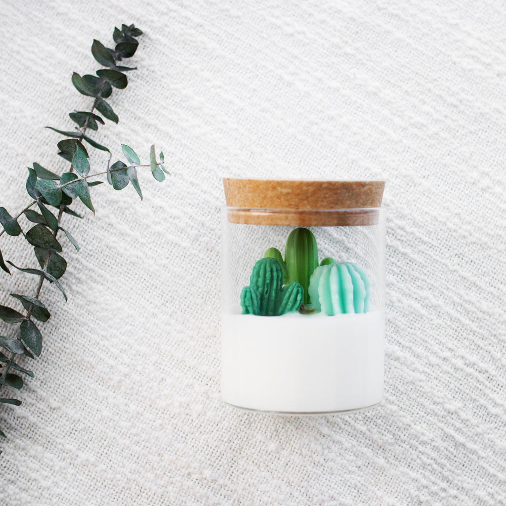 Cactus Container Soy Candles