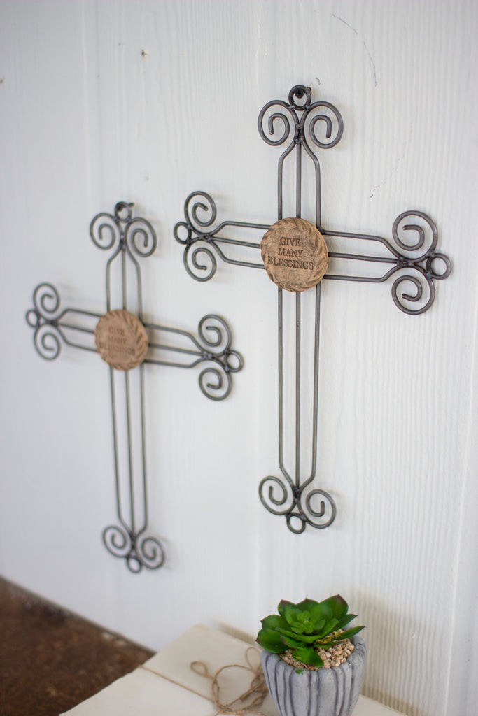 Wire & Clay Wall Cross